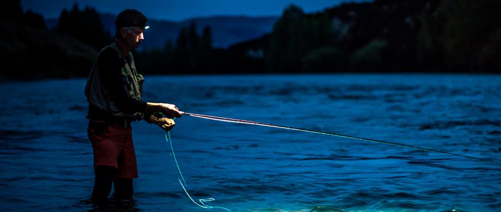 lampe frontale pêche